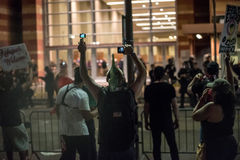 Protesta di raduno di Phoenix Trump Immagini Stock Libere da Diritti