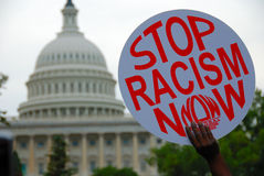 Protesta di razzismo a Campidoglio Fotografia Stock