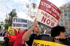 Protesta di sanità Fotografie Stock