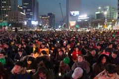 Protesta di seduta Fotografie Stock Libere da Diritti