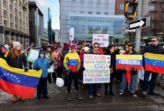 Protesta di SOS Venezuela in Ottawa Fotografie Stock