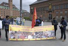 Protesta di Tamil Eelam contro la Sri Lanka Fotografia Stock Libera da Diritti