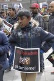 Protesta di Tamil Eelam contro la Sri Lanka Immagini Stock Libere da Diritti
