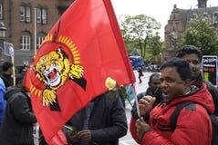 Protesta di Tamil Eelam contro la Sri Lanka Fotografie Stock