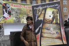 Protesta di Tamil Eelam contro la Sri Lanka Fotografie Stock Libere da Diritti