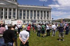 Protesta di TeaPartry Fotografie Stock