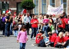 Protesta di VER.DI Immagini Stock