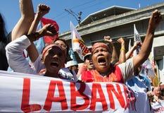 Protesta durante d?a de los derechos humanos Imagen de archivo