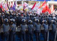 Protesta durante d?a de los derechos humanos Imagen de archivo libre de regalías