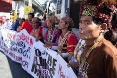 Protesta durante d?a de los derechos humanos Imágenes de archivo libres de regalías