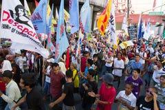 Protesta durante d?a de los derechos humanos Fotos de archivo libres de regalías