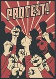 Protesta e manifesto di vettore di opposizione Royalty Illustrazione gratis