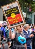 Protesta el día de Australia Imagen de archivo