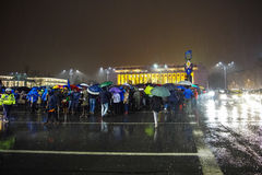 Protesta en Bucarest, Rumania Fotografía de archivo libre de regalías