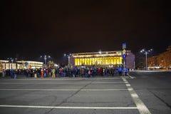 Protesta en Bucarest, Rumania Imagenes de archivo