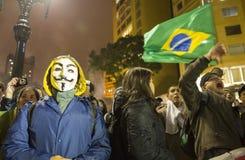 Protesta en el Brasil Fotografía de archivo