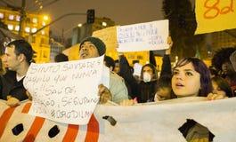 Protesta en el Brasil Fotos de archivo libres de regalías