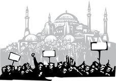 Protesta en Estambul Foto de archivo libre de regalías