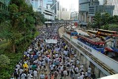 Protesta en Hong-Kong el 1 de julio de 2009 Foto de archivo