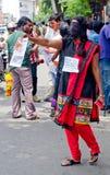 Protesta en indígenas urbanos de la ayuda, la India Fotos de archivo
