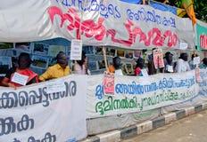 Protesta en indígenas urbanos de la ayuda, la India Imagenes de archivo
