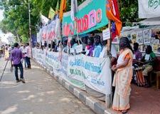 Protesta en indígenas urbanos de la ayuda, la India Fotografía de archivo libre de regalías