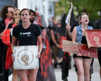 Protesta en la calle de Calhoun Imágenes de archivo libres de regalías