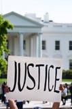 Protesta en la casa blanca Imágenes de archivo libres de regalías