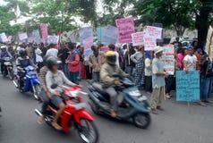 PROTESTA EN LA INUNDACIÓN Imagen de archivo