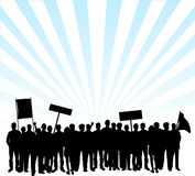 Protesta en las calles Fotografía de archivo