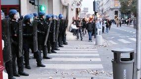 Protesta en Lyon fotografía de archivo libre de regalías