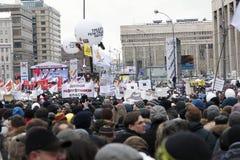 Protesta en Prospekt de Akademik Sakharov en Moscú Imagen de archivo libre de regalías