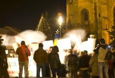 Protesta en Rumania imagen de archivo libre de regalías