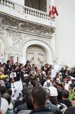 Protesta en Túnez fotografía de archivo