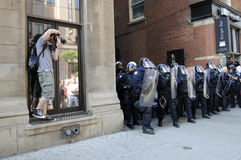 Protesta en Toronto. Fotos de archivo