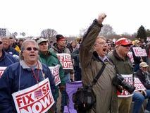 Protesta enojada de la pesca en el capital Fotografía de archivo libre de regalías