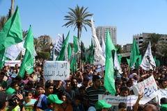 Protesta a gaza Fotografie Stock
