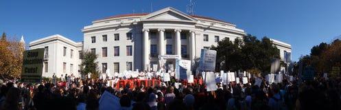 Protesta grande de Uc Berkeley Foto de archivo