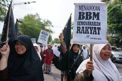 Protesta in Indonesia Fotografia Stock Libera da Diritti
