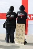 Protesta inglesa de la liga de la defensa Imágenes de archivo libres de regalías