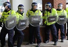 Protesta inglesa de la liga de la defensa Imagen de archivo libre de regalías