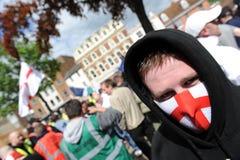 Protesta inglese della lega della difesa Immagini Stock