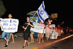 2011 protesta israeliana della giustizia sociale Fotografia Stock