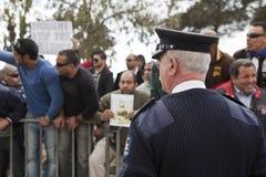 Protesta libia de la embajada fotos de archivo