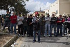 Protesta libica dell'ambasciata immagini stock libere da diritti