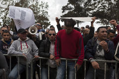 Protesta libica dell'ambasciata immagine stock