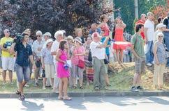 Protesta local de los seguidores de un programa local Antena 3 de las noticias TV Fotografía de archivo libre de regalías