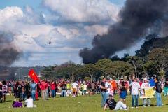 Protesta massiccia a Brasilia, Brasilia Fotografie Stock Libere da Diritti