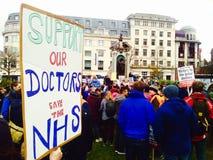 Protesta minore di medici Fotografia Stock Libera da Diritti