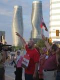 Protesta Mississauga L de Egipto Imagen de archivo libre de regalías